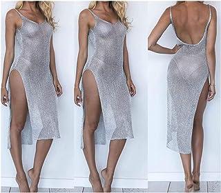 HappyWe Women's Chiffon Bathing Suit Bikini Cover Up Beach Dress Swimwear Swimsuit Dress for Ladies-in Cover