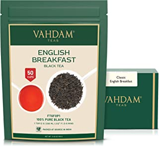 Original English Breakfast Black Tea Leaves (50 Cups) I STRONG BLACK TEA I RICH & AROMATIC Loose Leaf Tea I Serve as ICED ...