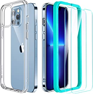 ESR Case and Screen Protector Set Compatible with iPhone 13 Pro Max, Includes 2-Pack Tempered-Glass Screen Protectors, Mil...