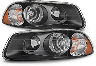For 2008-09 Mack Granite GU7/GU8 + 1998-05 Mack Vision CX 600 + 2007 Mack Granite CV Headlights Black Assembly Set