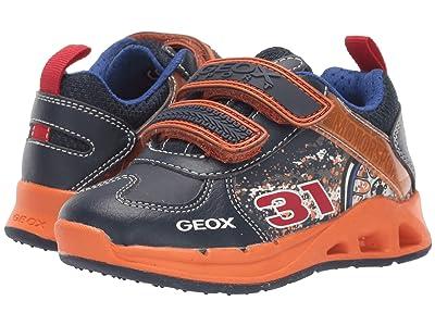 Geox Kids Jr Dakin 5 (Toddler) (Navy/Orange) Boys Shoes