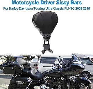 OXMART Adjustable Motorcycle Driver Sissy Bars,Detachable Black PU Backrest Cushion,Fit for Harley Davidson Touring Ultra Classic FLHTC 2009 2010 2011 2012 2013 2014 2015