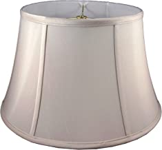 "American Pride 14""x 17""x 10"" Round Soft Shantung Tailored Lampshade, Croissant"