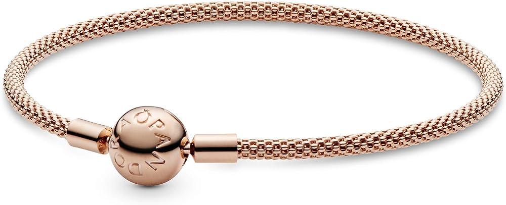 Pandora - bracciale da donna  in lega di metallo impreziosito con ancora in titanio e placcato in oro 14 ct 586543-19