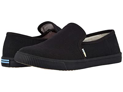 TOMS Clemente (Black/Black Heritage Canvas) Women