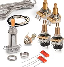 Golden Age Premium Wiring Kit for Gibson Les Paul with Push-pull Pots, Long-shaft CTS Pots and Chrome Switchcraft Switch