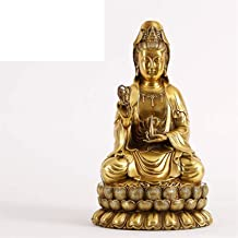 PPCP Pure Copper Guanyin Buddha Statues Net Bottle Guanyin Buddhist Temple Dedicated to The Opening of Guanyin to Send Chi...
