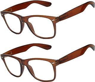 f54b85bce9 OWL - Non Prescription Glasses for Women and Men - Clear Lens - UV  Protection