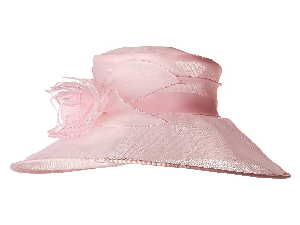 San Diego Hat Company DRS1020 Organza Dress Hat w/ Rosette (Pink) Caps