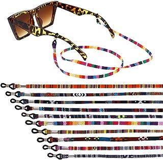 Opopark 10 Piezas Correa Gafas,Gafas de Cadena Cuerda Gafas de Sol Cadena Gafas de Lectura Cordón Fijo