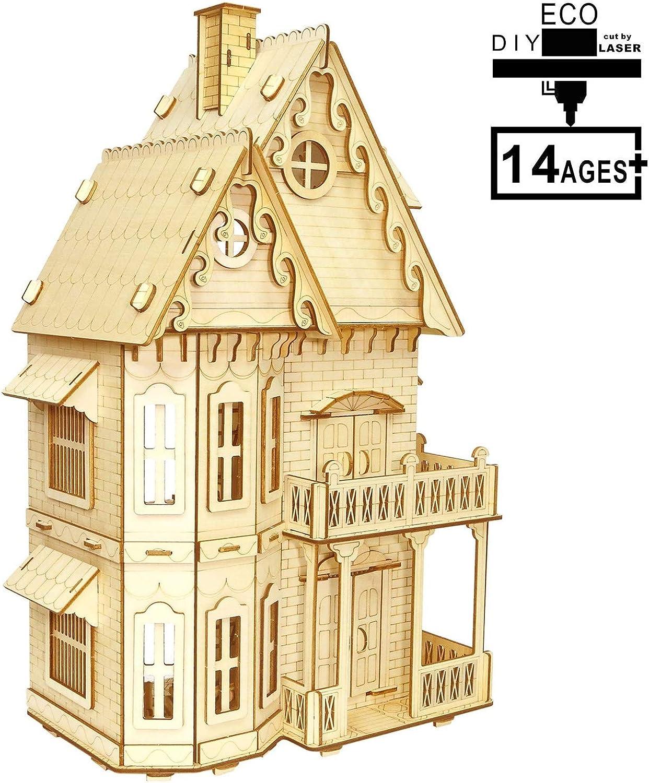 ahorre 60% de descuento 3D Jigsaw Puzzle Modelo De Arquitectura Kits De Bricolaje Bricolaje Bricolaje 218 Piezas para Adultos Y Niños  las mejores marcas venden barato
