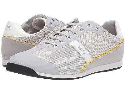 BOSS Hugo Boss Glaze Low Profile Sneakers (Light/Pastal Grey) Men