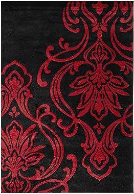TUFAN TAPETES Tapete Decorativo Clasico Stylo Rojo 2.30 X 1.60