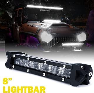 Xprite Ultra Thin Single Row Slim LED Light Bar, 8
