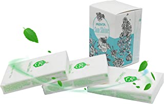 Global Cham Strong Peppermint Pocket Tissues Soft Nose Tissues with Lotion 3 Packs White Paper Towels(White/Blue Box)