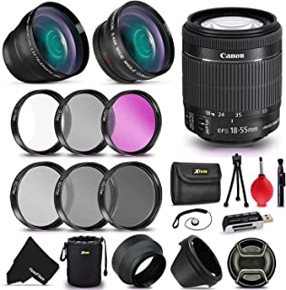Canon EF-S 18-55mm f/3.5-5.6 is II SLR Autofocus Lens Kit with 58mm Wide Angle / 2X Telephoto Lenses, Lens Filter Accessor...
