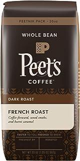 Peet's Coffee French Roast, Dark Roast Whole Bean Coffee, 20 Ounce Peetnik Pack,..