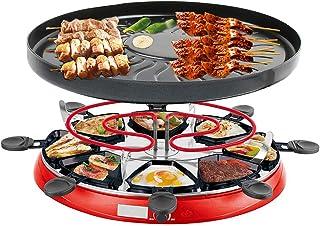 Raclette 8 Personnes Appareil Raclette avec Revêtement Anti-Adhésif, Réservoir d'huile, Facile à Nettoyer, Comprend Amélio...