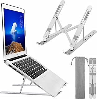 Laptop Stand, BEHEY Adjustable Metal Aluminum alloy Holder with Silicone protection, Foldable Computer Riser Compatible wi...