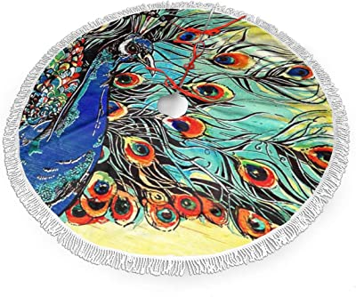 GREATN Bandana Colorful Red Christmas Tree Skirt Mercerized Circular Velvet Tree Mat Merry Christmas Party Ornaments Pet Dogs Cats Favors