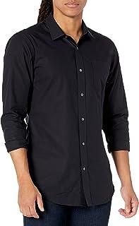 [Amazon Essentials] 防シワ加工 スリムフィット 長袖 ドレスシャツ メンズ