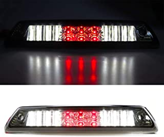 LED Third 3rd Brake Cargo Light Assembly, Rear Roof Center High Mount Stop Tail Light Replacement for 2009-2014 Ford F-150 (Chrome Housing Smoke Lens)