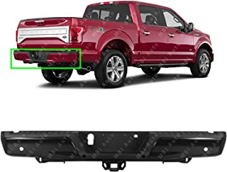 MBI AUTO - Primered, Steel Rear Step Bumper Assembly for 2015 2016 2017 2018 Ford F150 w/Park Assist & Max Hitch 15-18, FO1103192