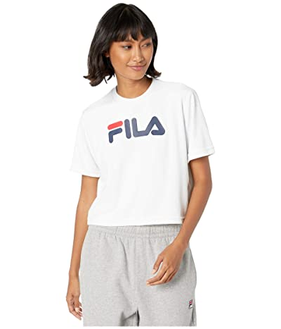 Fila Florita Velour Tee (White/Peacoat/Chinese Red) Women