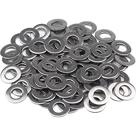 Favordrory M8 Flat Washer, 304 Stainless Steel, 100 PCS (M8 x 16 x 1.6mm 100PCS)
