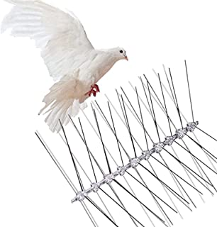 Bird Spikes - 25CM (12pcs) Bird Deterrent Spikes, Stainless Steel Pigeon Repellent Spikes, Polycarbonate Starlings Pest Co...