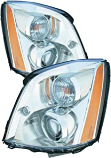 Headlight Replacement For Cadillac Dts Driver Left and Passenger Right Pair Set 2006 2007 2008 2009 2010 2011 Headlamp Assembly
