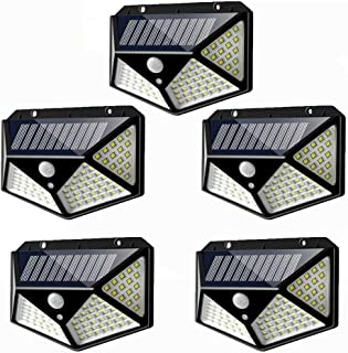 NANSONG Waterproof outdoor wireless mode solar L 5pcs 3 PIR motion sensor 100 LED Solar Wall outdoor garden lights, lighting