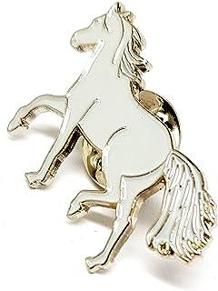 Mainly Metal Metallo Spilla di Smalto Grigio Pony Equitazione equestre