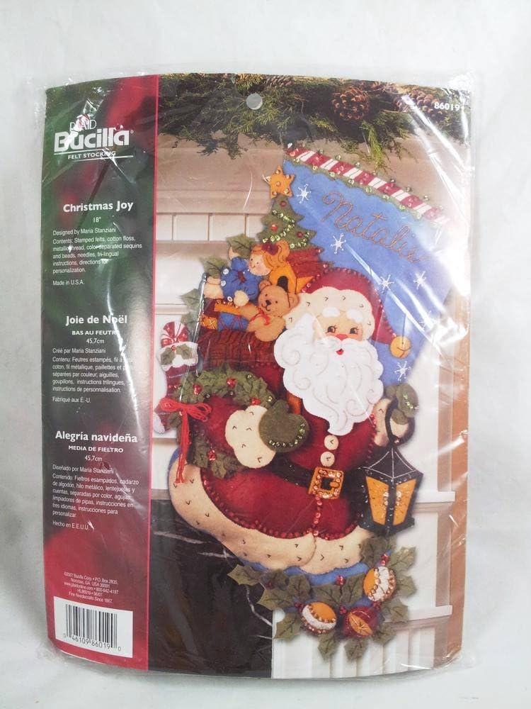 Bucilla Christmas Joy Stocking Felt Kit Applique Beauty products Max 51% OFF