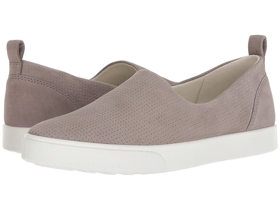ECCO Gillian Casual Slip-On (Warm Grey Cow Nubuck) Women