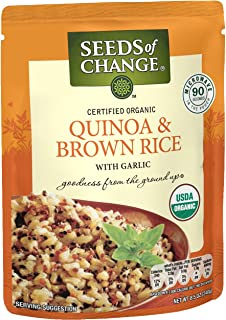 SEEDS OF CHANGE Organic Quinoa & Brown Rice 8.5 Ounce (Pack of 12)