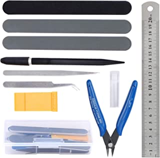 Hseamall Kit d'outils de base pour bandai Hobby Gundam - Kit de réparation - 11 pièces