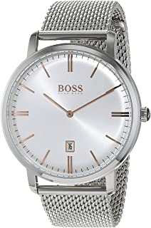 hugo boss Tradition Men's White Dial Stainless Steel Band Watch - 1513481