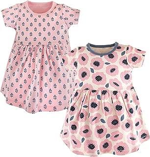 Baby Girl Dress Children's Long Sleeve Striped Print and Flower Print Girls 2PCS Summer Party Dresses Baby Dress Vestido