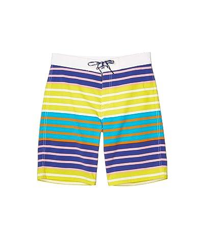 crewcuts by J.Crew Multi Stripe Boardshorts (Toddler/Little Kids/Big Kids) (Blue Kiwi Multi) Boy