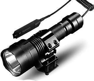 10000lumens Hunting Flashlight 1 Mode Torch Lintern T6/L2 Tactical Flashlights 18650 Aluminum C8 Waterproof Lamp Gun Mount-in Flashlights & Torches,Package A,T6-1