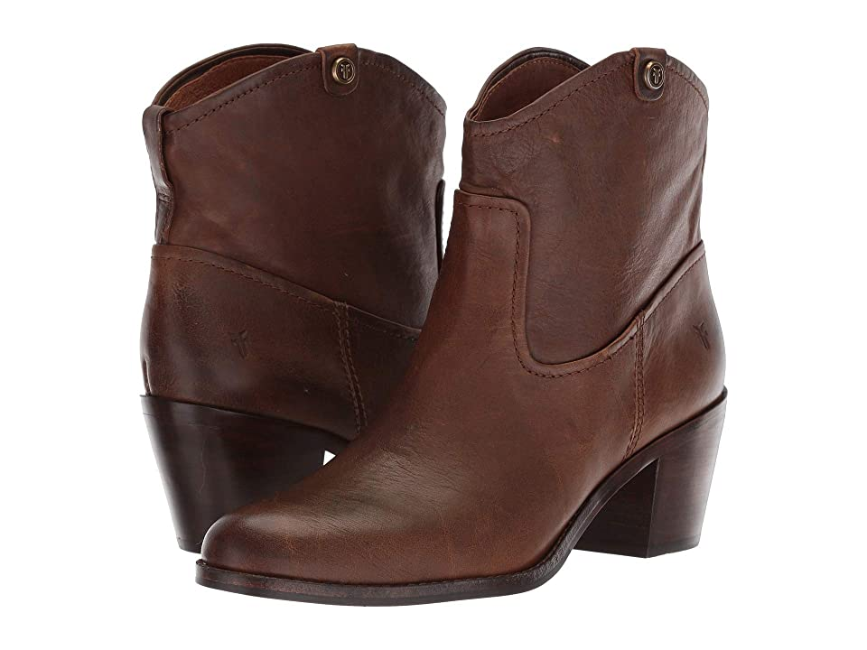 Frye Jolene Pull-On Short (Brown Smooth Pull-Up) Women