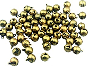 Maydahui 100PCS Small 1/2 Inches Jingle Bell Vintage Bronze Mini 10mm Alloy Beads DIY for Jewelry Findings,Sewing,Wedding,Doors and Crafts