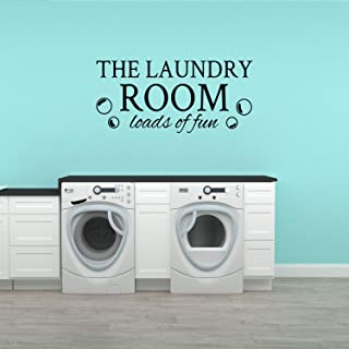 Basicor The Laundry Room Decal Loads of Fun Laundry Room Decor Sticker Y30