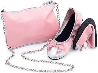 CatMotion Chaussures Confortables Pliantes dans Votre Sac à Main pour Filles, Ballerines, Party, Chaussures de Poche, Ball...