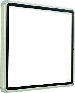 "Quartet Enclosed Whiteboard/Dry Erase Board, Magnetic, 30"" x 27"", 6 Sheets, Outdoor, 1 Swing Door, Aluminum Frame (EEHM2730)"