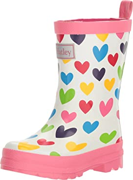 Rainbow Hearts Rain Boots (Toddler/Little Kid)