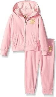 Juicy Couture Girls' Velour Jog Sets 浅粉色 8/10