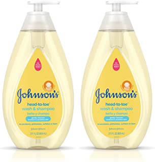 Johnson's Head-to-Toe Hypoallergenic & Paraben-Free Baby Wash & Shampoo Twin Pack, 2 x 27.1 fl. oz