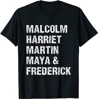 Black History Month Malcolm Harriet Martin Maya & Frederick